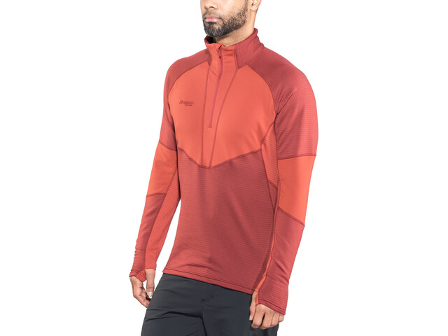 Bergans M's Roni Half Zip Burgundy/Red